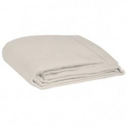 COTE DECO Drap plat 100% coton lavé 270x290 cm - Blanc ficel