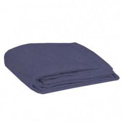 COTE DECO Drap plat 100% coton lavé 270x290 cm - Bleu navy