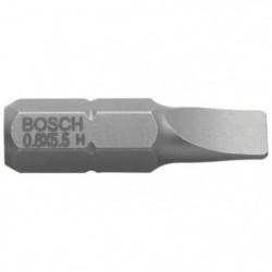 BOSCH Embout pour vis a fente 3 mm extra-dur - Forme E 6.3 1
