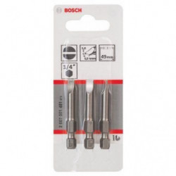 BOSCH Embout pour vis a fente 5.5 mm extra-dur - Forme E 6.3
