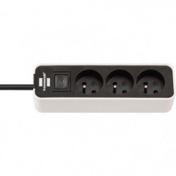 BRENNENSTUHL Multiprise ECOLOR 3 prises (câble 1,50m H05VV-F