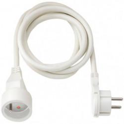 BRENNENSTUHL Rallonge électrique 2m avec fiche plate (câble