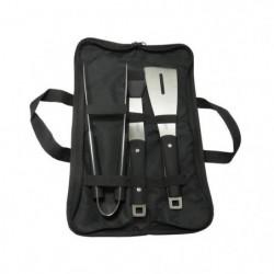 JEAN DUBOST Sacoche noire plancha : pince, pinceau et spatul