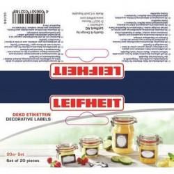 LEIFHEIT Etiquettes de décoration pour bocaux - Noir et blan