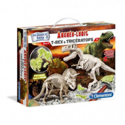 CLEMENTONI Archéo Ludic - T-Rex & Tricératops Phosphorescent
