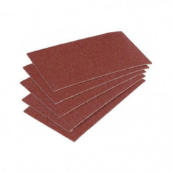 WOLFCRAFT 5 Patins abrasifs corindon - Grain 60 - 70x125 mm