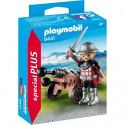 PLAYMOBIL 9441 - Knights - Chevalier avec canon