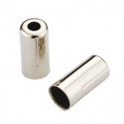 JAGWIRE Embout de gaine 5 mm Brake - Chrome - Lot de 200