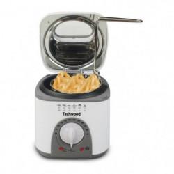 TECHWOOD Mini Friteuse et Appareil a fondu - 950 W - Blanc