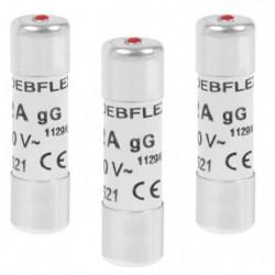 DEBFLEX Lot de 3 Fusibles 10,3x38 32 A