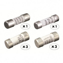 ZENITECH 8 fusibles céramique 3x10A 3x16A 1x20A 1x32A sans v