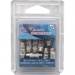 VOLTMAN Pack 10 Fusibles avec voyant de fusion 8,5 x 23 mm -
