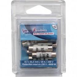 VOLTMAN Pack 10 Fusibles avec voyant de fusion 8,5 x 31,5 mm