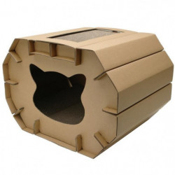 CAT LOVE Chatiniere grattante avec chat a chat - 50 x 38 x 3