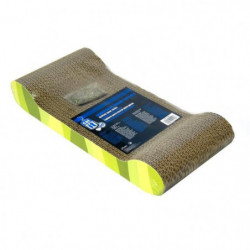Griffoir carton ondulé 49x22x75 cm zebre vert