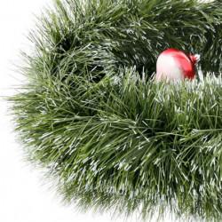 Guirlande de Noël non lumineuse verte et blanche 2 m 50