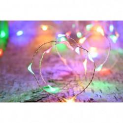 Guirlande micro-LED - 4 m - Rouge ,vert et bleu - 80 LED - 1