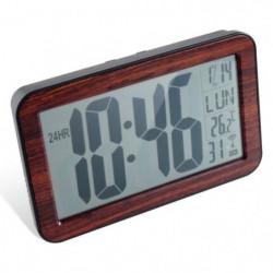 DIANE Horloge RC digitale en bois - Taille chiffres 9,5 cm -