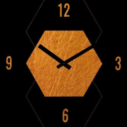 ARTIS Horloge en verre Moment'Art 30 x 30 cm Or motif