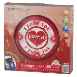 Horloge murale LED Love - Ø30cm