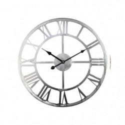 Horloge en métal D 45 cm - Gris