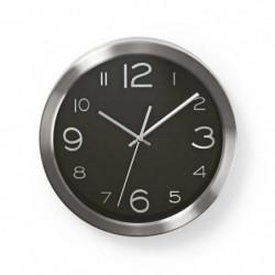 NEDIS Horloge murale circulaire - Ø 30 cm - Noir Acier inoxy