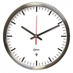 MUNDUS Horloge inox RC en acier inoxydable brossé - 34 cm