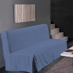 HOMETREND Housse de clic clac Graphite - 200 x 140 cm - Bleu