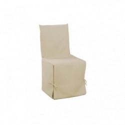 DOUCEUR d'INTERIEUR Housse de chaise unie a nouettes 50x50x5