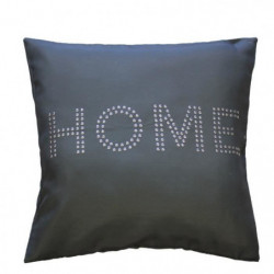 Housse de coussin + zip anthracite Home strass 40 cm