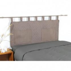 COTE DECO Tete de lit matelassée Microfibre lavée MOJI 160x6