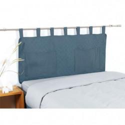 COTE DECO Tete de lit matelassée Microfibre lavée MOJI 140x6