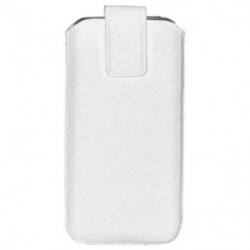 BBC Etui Pouch up universel taille S pour Iphone - Blanc