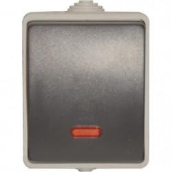 Interrupteur Poussoir lumineux étanche Aquatop IP54