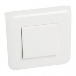 LEGRAND Interrupteur simple Mosaic avec plaque 10 A blanc