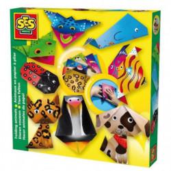 SES CREATIVE Set de création animaux en papier à plier - 9 a