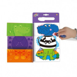 GALT Carnets de dessins Stylo magique - Water Magic Animaux