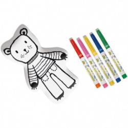 SES CREATIVE MY FIRST Ours en tissu a colorier