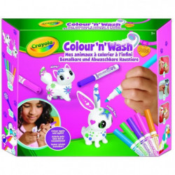 CRAYOLA Color'N'Wash pets - Mes Animaux a Colorier - Kit 1