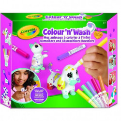 CRAYOLA Color'N'Wash pets - Mes Animaux a Colorier - Kit 2