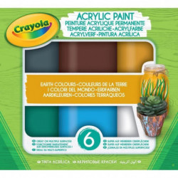 CRAYOLA Peinture acrylique Crayola - Earth Colours