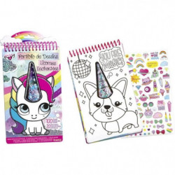 LANSAY Portfolio de dessins Licornes Enchantées