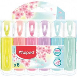 MAPED 6 Surligneurs Pastels Assortis