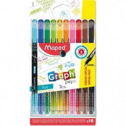 MAPED 10 Feutres Fin Graph Peps Format Special