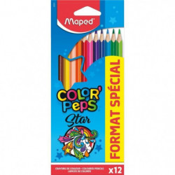 MAPED 12 Crayons De Couleur Format Special