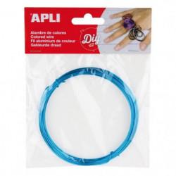 APLI Fil métallique bleu