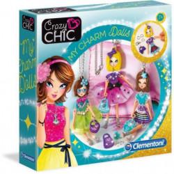 CLEMENTONI Crazy Chic - Pendentifs poupées Charm dolls - Cré