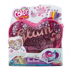 COLOR ME MINE Gloss & Glam Sac Coeur a colorier