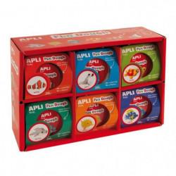 APLI Pâte a modeler 12 kits poissons en Fun Dough