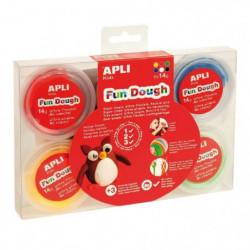 APLI Pâte a modeler en Fun Dough - 6 pots - 14 g